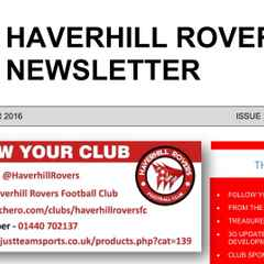 HAVERHILL ROVERS F C AUG-SEP 2016 NEWSLETTER