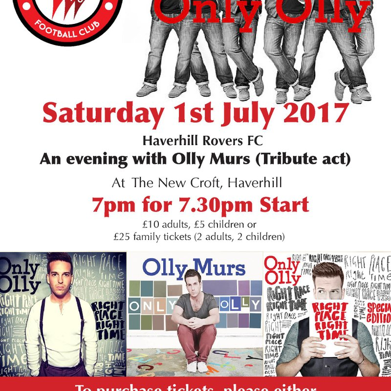 AN EVENING WITH OLLY MURS (Tribute Act)