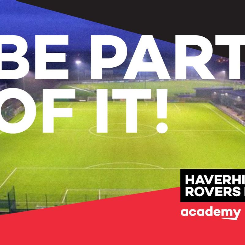 HAVERHILL ROVERS F C ACADEMY LAUNCHES SEPTEMBER 2017