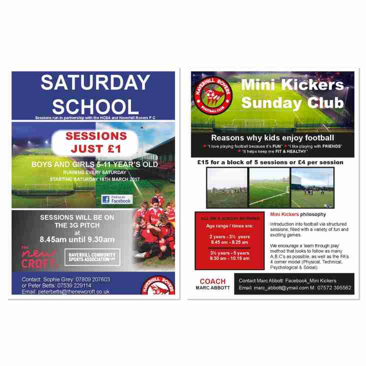 HAVE FUN, KEEP FIT, MAKE FRIENDS - SATURDAY CLUB & MINI KICKERS SUNDAY CLUB