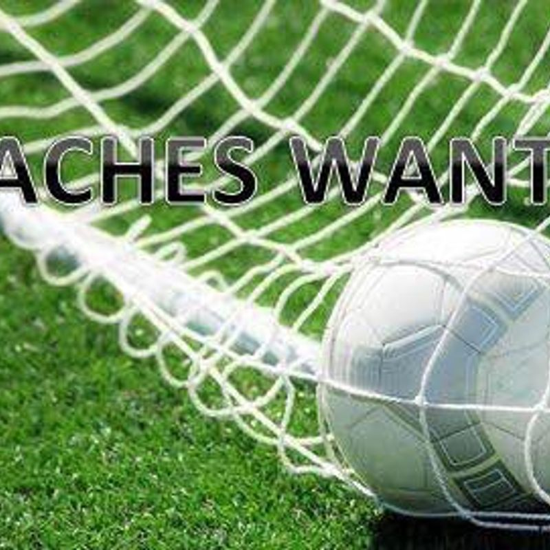 FOOTBALL COACHES WANTED - SEASON 2017/18