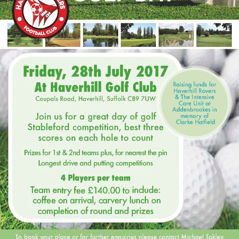 HRFC GOLF DAY 2017 - FRIDAY, 28 JULY 2017  (FUNDRAISER)