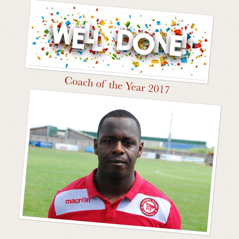 CONGRATULATIONS TO JASON CLARKE - COACH OF THE YEAR 2017