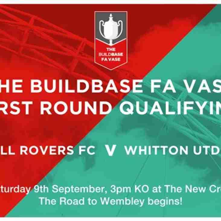 THE BUILDBASE FA VASE - HRFC vs WHITTON UNITED FC - SAT. 09 SEPT 17