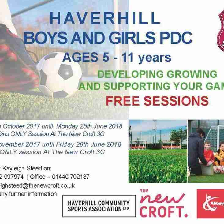 B0YS & GIRLS PLAYER DEVELOPMENT CENTRE (FREE SESSIONS)