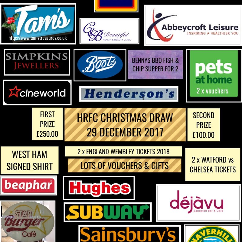 HRFC THANKS THE LOCAL COMMUNITY FOR IT'S FESTIVE GOOD SPIRIT
