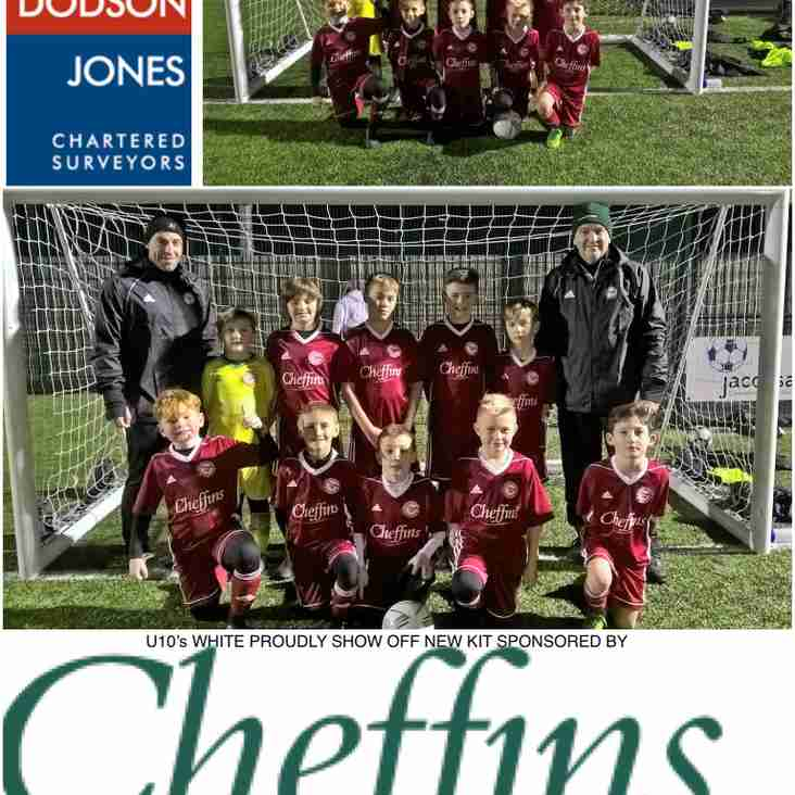 HUGE THANKS FROM OUR U10's WHITE TO CHEFFINS HAVERHILL