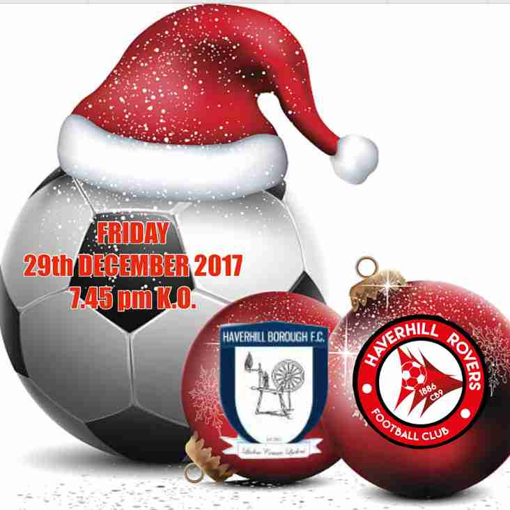 CHRISTMAS LOCAL DERBY  - FRIDAY, 29 DECEMBER 2017 - 7.45 pm K.O.  3G.
