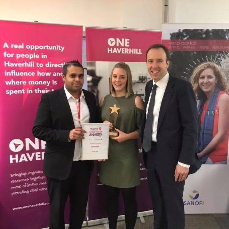 KAYLEIGH STEED NAMED ONE HAVERHILL TOP APPRENTICE OF THE YEAR