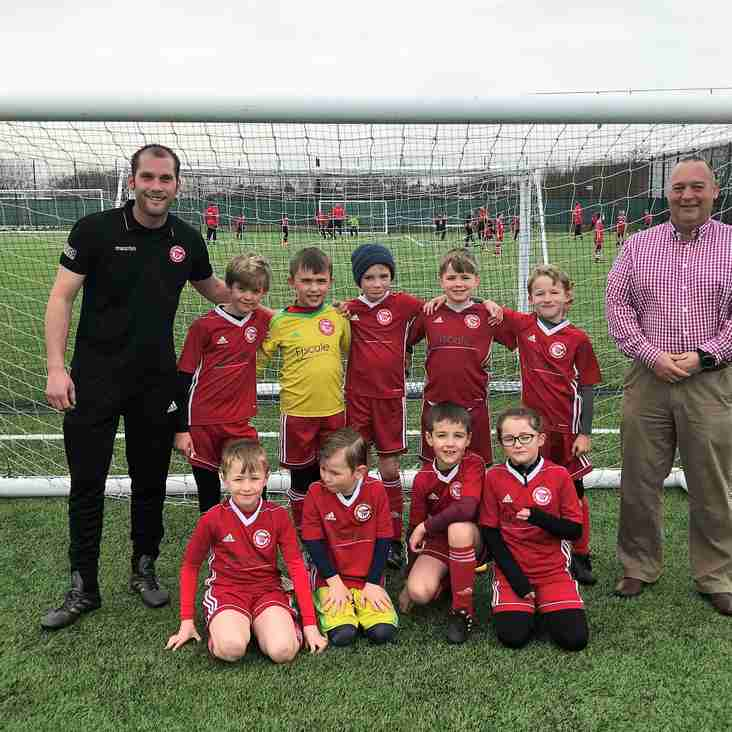 OUR U8'S YELLOW BOAST A NEW KIT THANKS TO FISCALE LTD