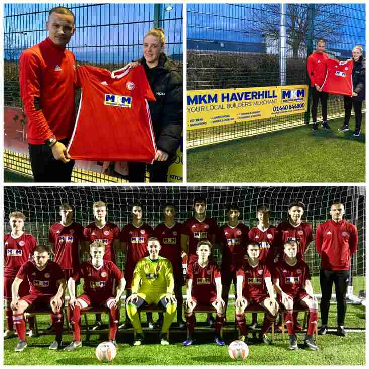 LOCAL BULDERS' MERCHANT MKM SPONSORS HAVERHILL ROVERS U18'S