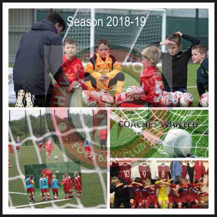 FOOTBALL COACHES WANTED - SEASON 2018-19