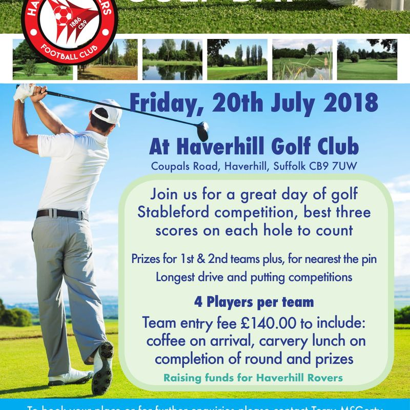 HRFC GOLF DAY 2018 - FRIDAY, 20 JULY 2018 - HAVE YOU BOOKED YOUR TEAM YET?