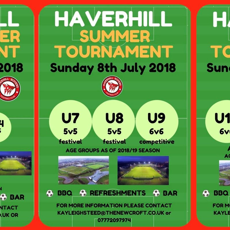 HRFC YOUTH SUMMER TOURNAMENTS - JULY 2018