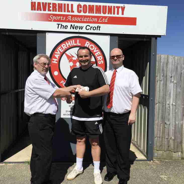 HUGE THANKS TO HAVERHILL ROVERS SUPPORTERS CLUB
