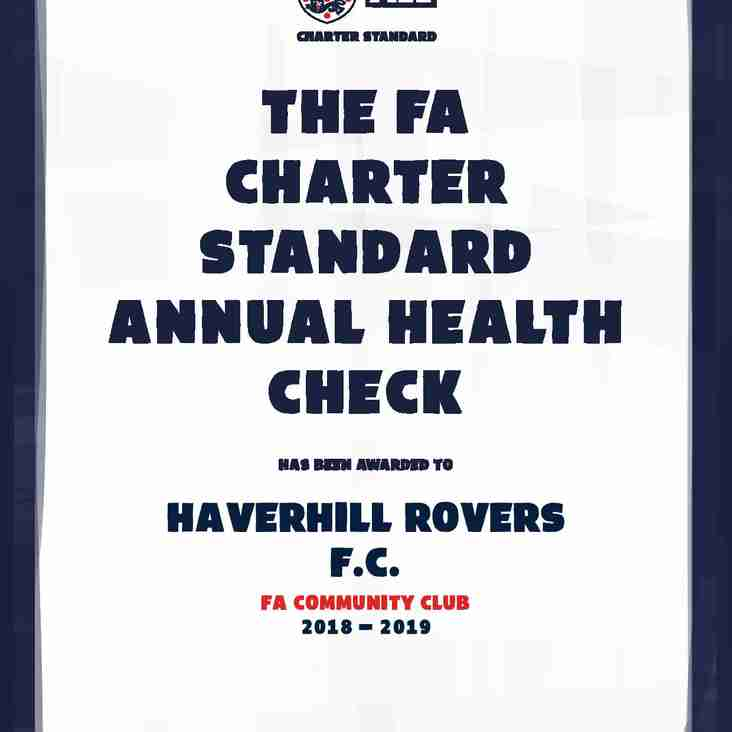 HRFC ANNOUNCED AS FA CHARTER STANDARD COMMUNITY CLUB FOR 2018-19