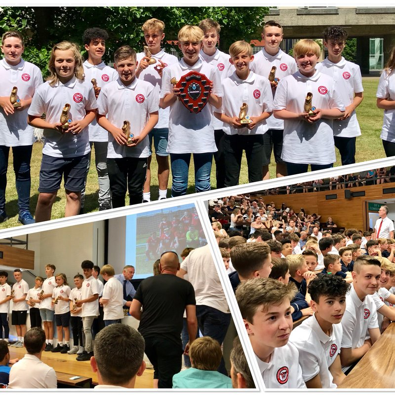 HRFC U13's WHITE PICK UP THEIR WELL DESERVED TROPHIES - SUN. 24 JUNE 2018