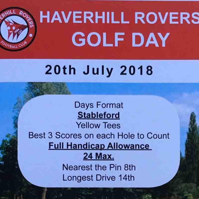 HRFC Golf Day - 20 July 2018