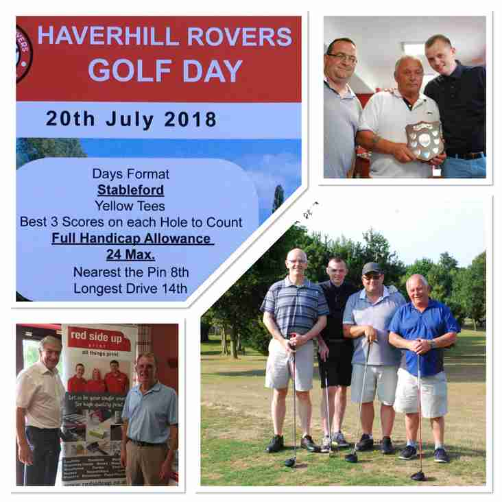HRFC TOASTS A SUCCESSFUL HAVERHILL ROVERS F C GOLF DAY 2018