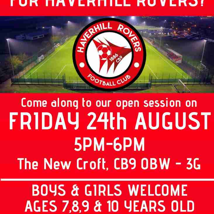 DO YOU WANT TO PLAY FOR HAVERHILL ROVERS F C - SEASON 2018/19?