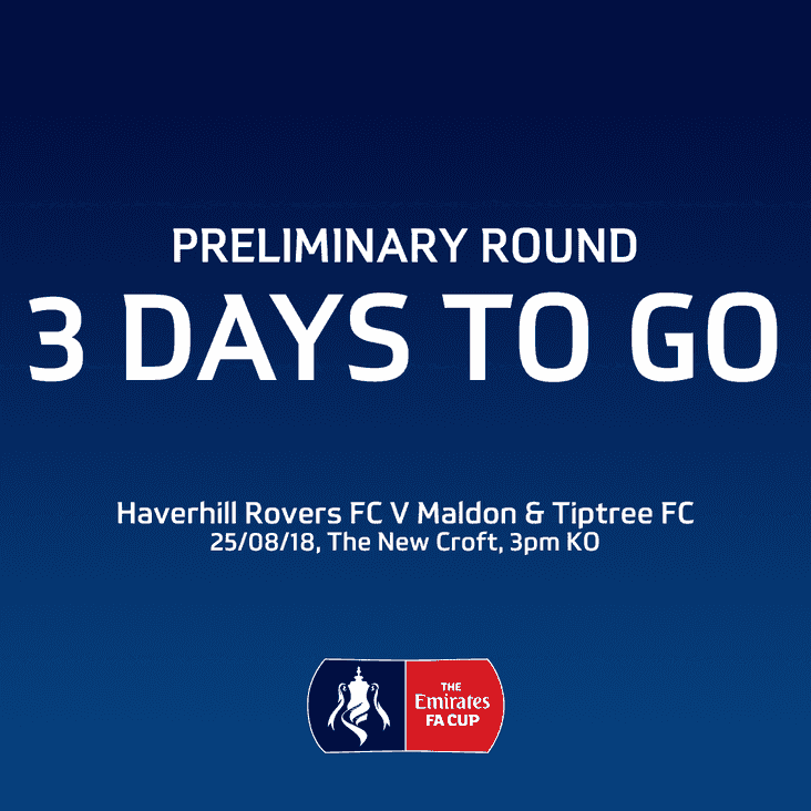 EMIRATES FA CUP - FIRST PRELIMINARY ROUND - HRFC vs MALDON & TIPTREE FC - SAT. 25 AUG 18