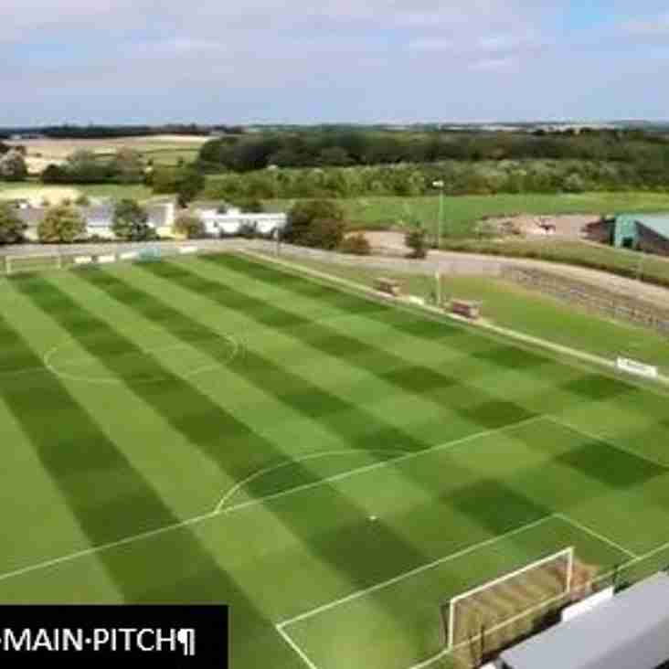 THE NEW CROFT SHOWS OFF IT'S NEWLY MANICURED PITCH FOR THIS SEASON
