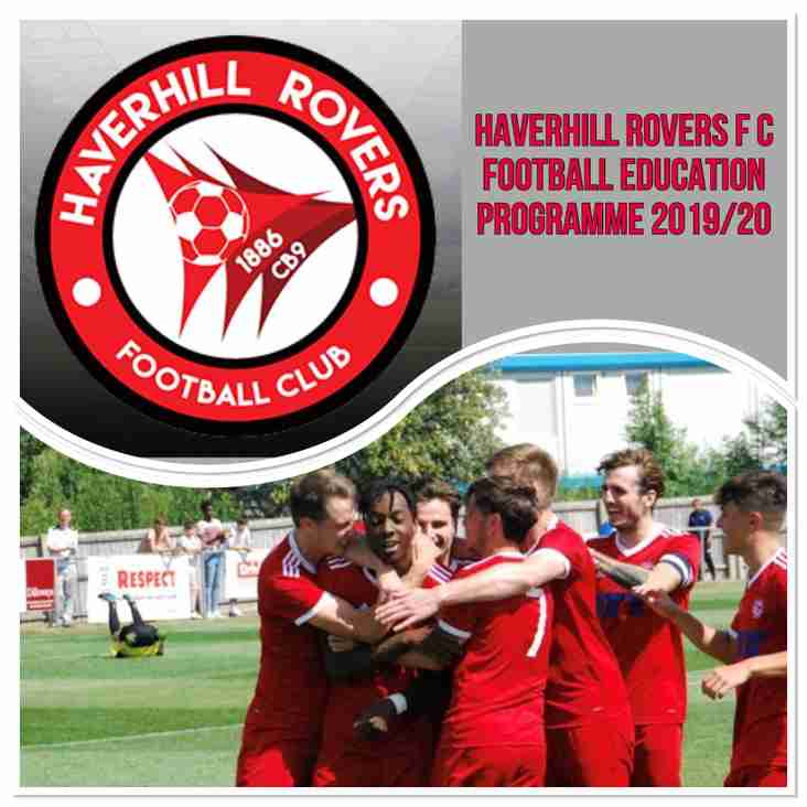 NEW - HAVERHILL ROVERS F C FOOTBALL EDUCATION PROGRAMME 2019/20