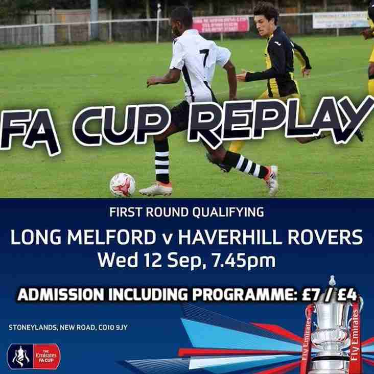 EMIRATES FA CUP REPLAY - WEDS. 12 SEP 18 - LONG MELFORD vs HRFC