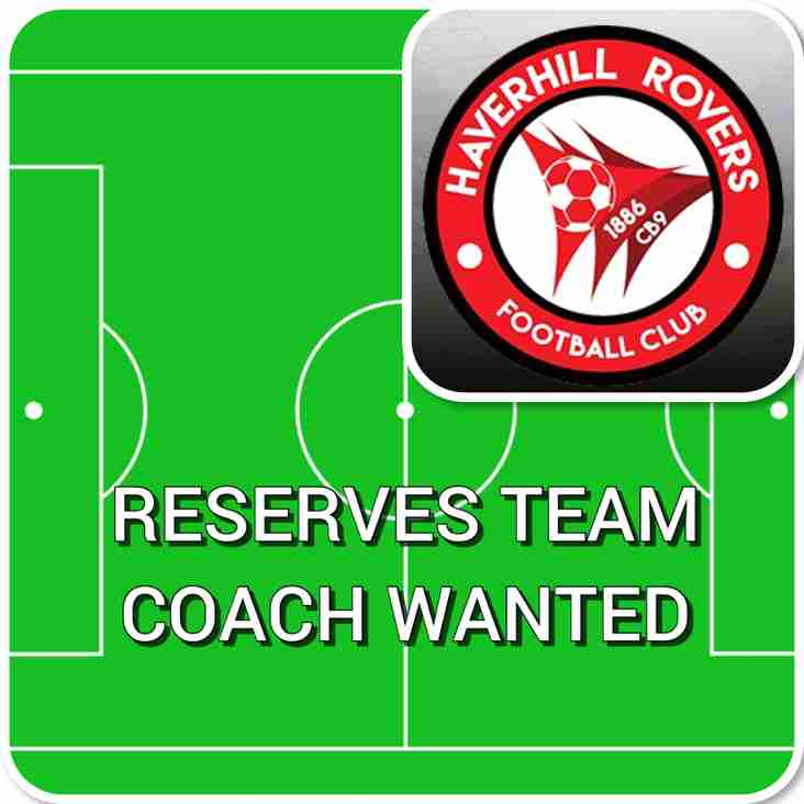 RESERVE TEAM COACH WANTED
