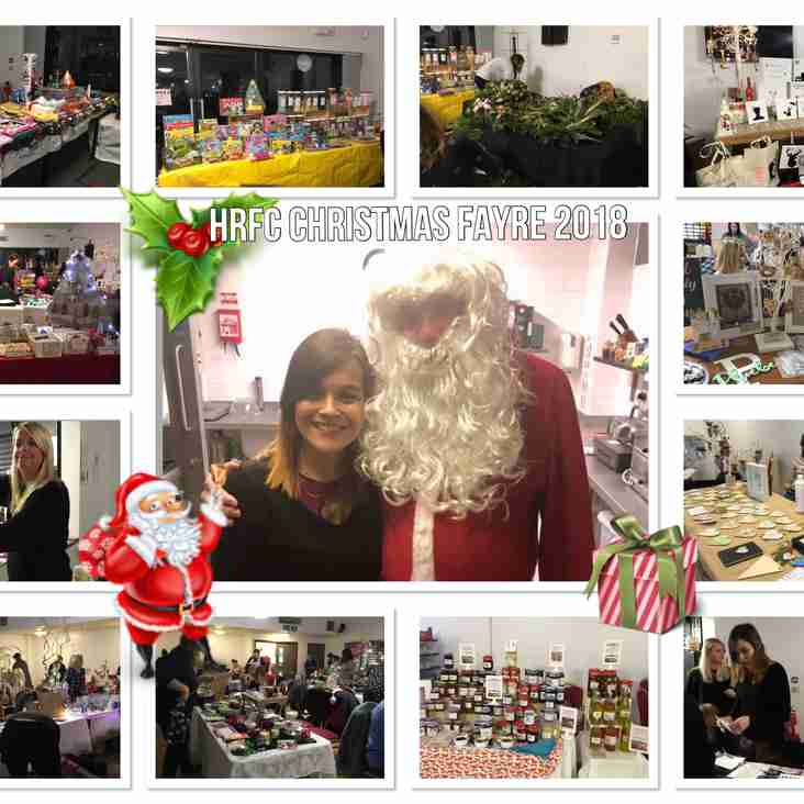 FANTASTIC TURNOUT TO OUR HRFC CHRISTMAS FAYRE 2018
