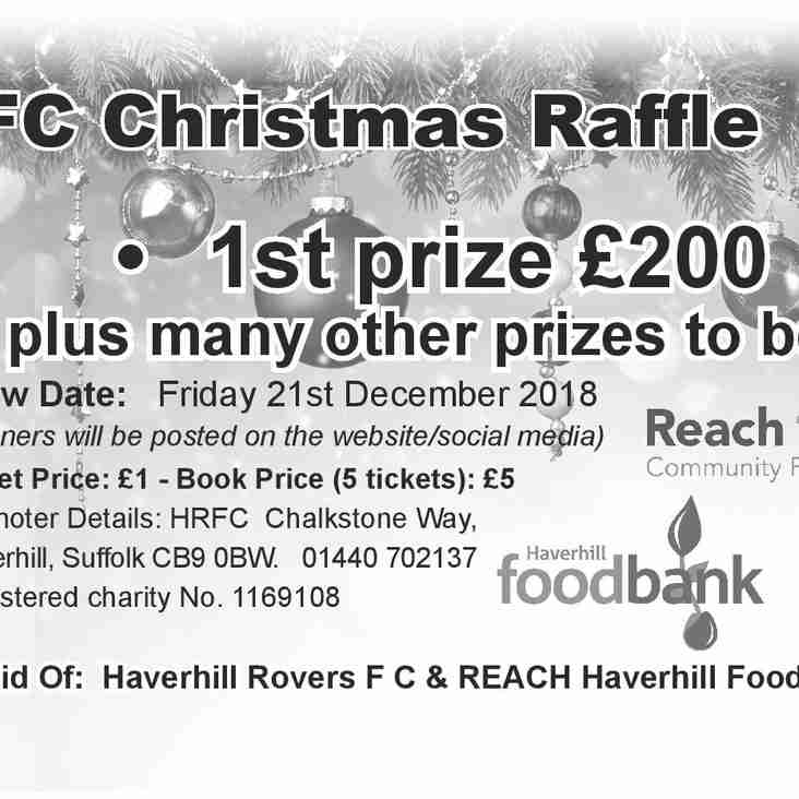 HRFC CHRISTMAS RAFFLE PRIZE DRAW - FRI. 21 DECEMBER 2018