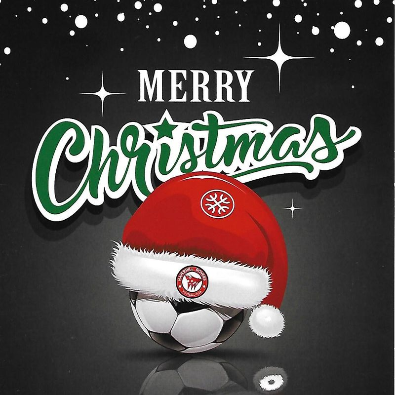 MERRY CHRISTMAS & A HAPPY NEW YEAR 2019 FROM HAVERHILL ROVERS F C