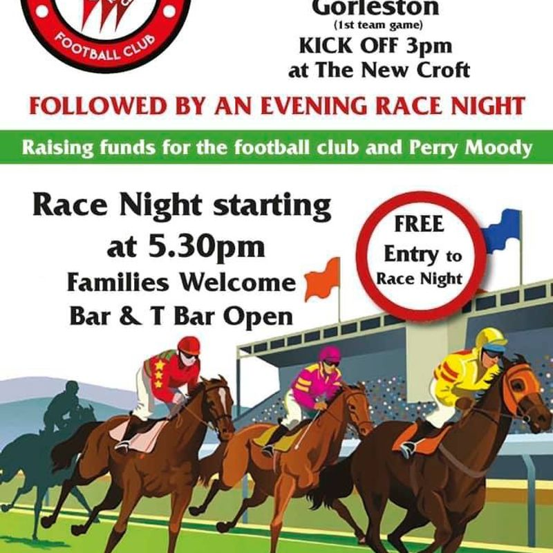 HRFC RACE NIGHT - SATURDAY, 26 JANUARY 2019