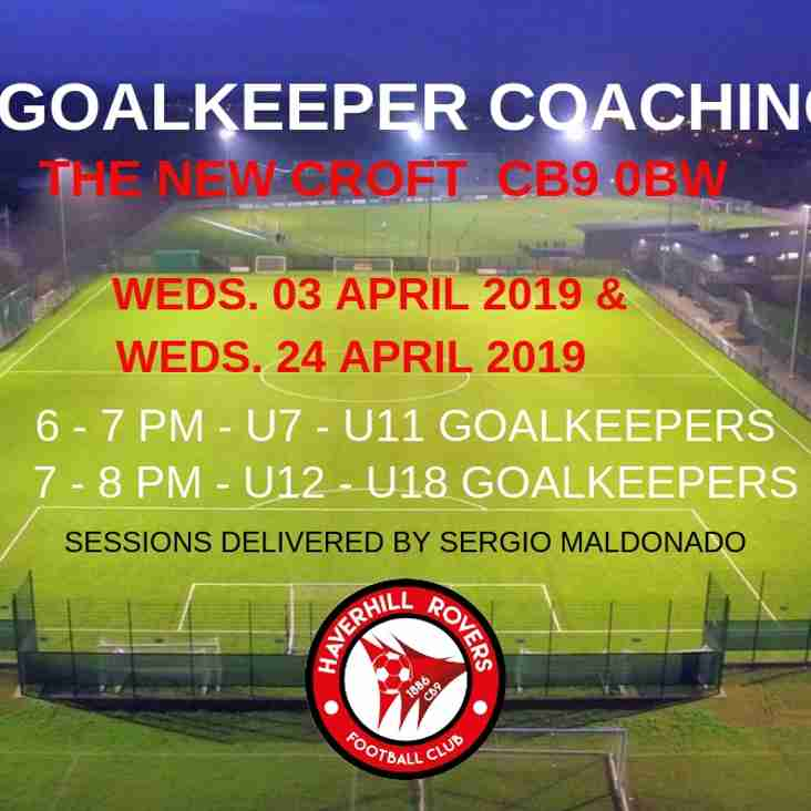 GOALKEEPER COACHING RETURNS AT THE NEW CROFT