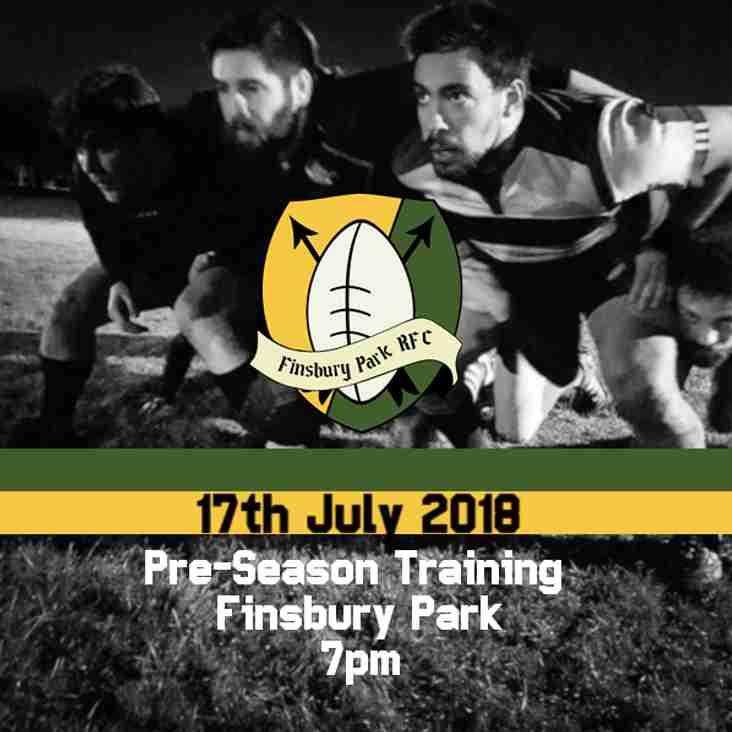 Pre-Season Training Dates Announced