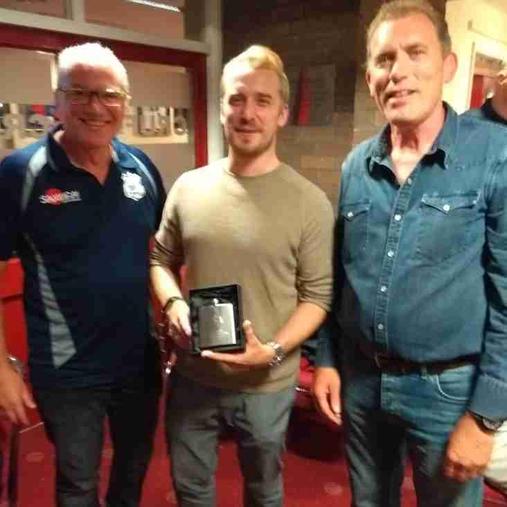Tom Doig awarded with the Mike Tasker YRS Referee of the Year award 2017/18