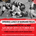 SOLD OUT - Saturday 20th October Pre-match Lunch vs Holt RFC