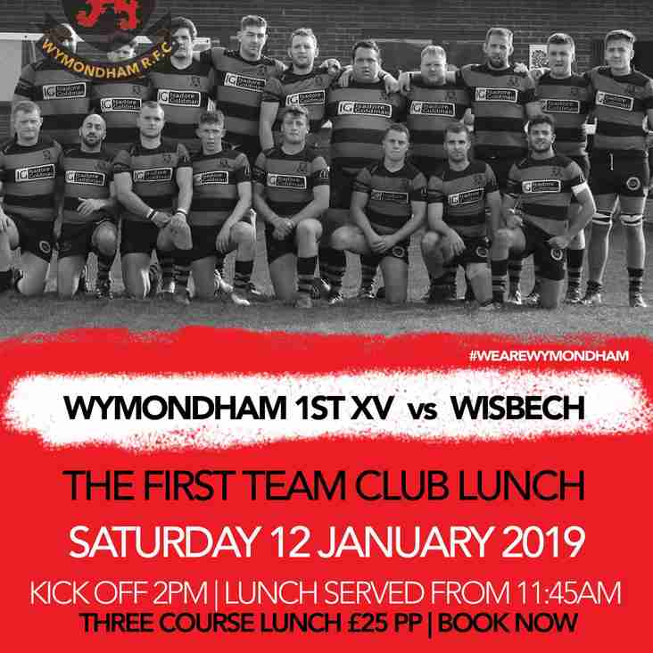 Pre-match 1st XV Lunch - Saturday 12th January 2019