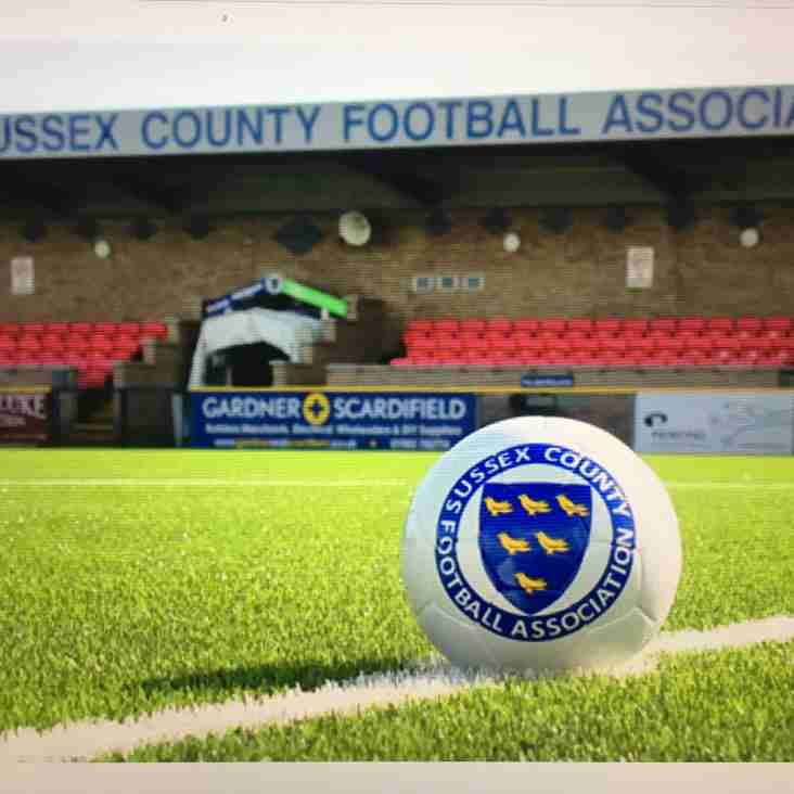 Sussex County FA Cup Draws Announced