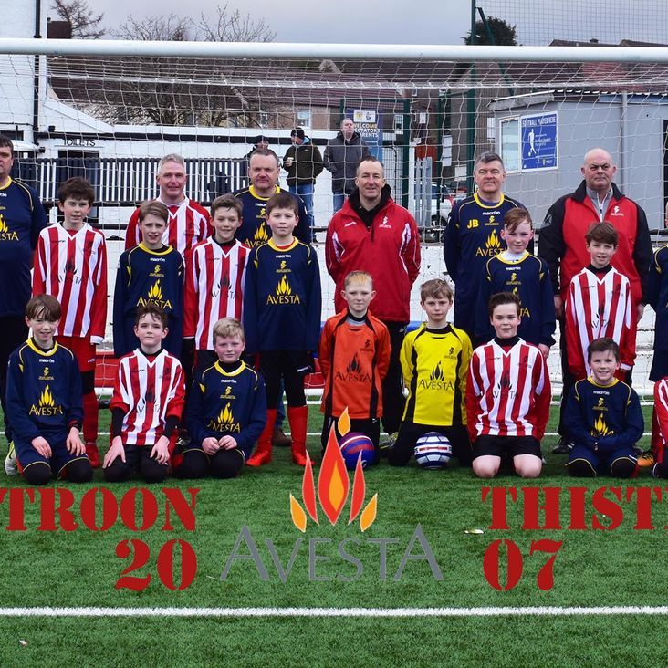 Troon Thistle 2007 New Home and Away strip<