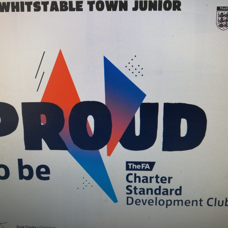 WHITSTABLE TOWN JUNIOR FC AWARDED CHARTER STANDARD DEVELOPMENT CLUB STATUS