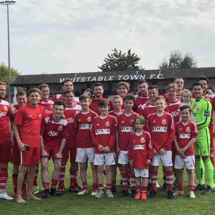 OUR UNDER 13S ACT AS MASCOTS/BALL BOYS  FOR THE 1ST TEAMS LAST HOME FIXTURE OF THE SEASON