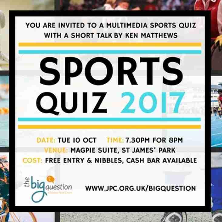 CIS Sports Quiz 2017
