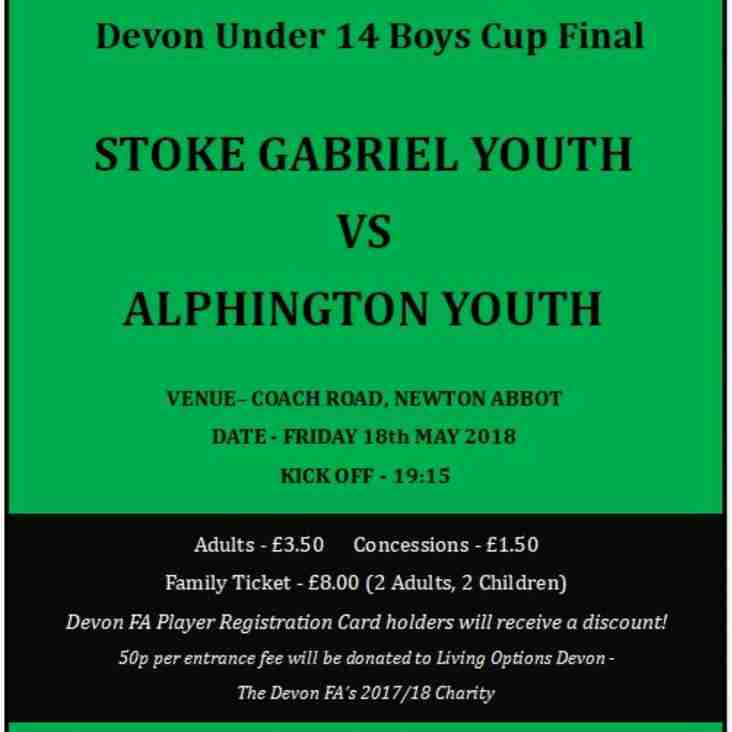 Devon FA Cup Final - Under 14's