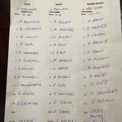Teams for 16th & 17th July 2016