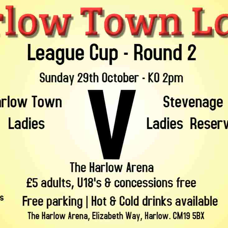 Harlow Ladies face Stevenage Reserves in County Cup
