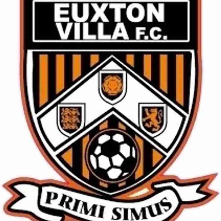 Euxton Villa v City Kick Off time changed