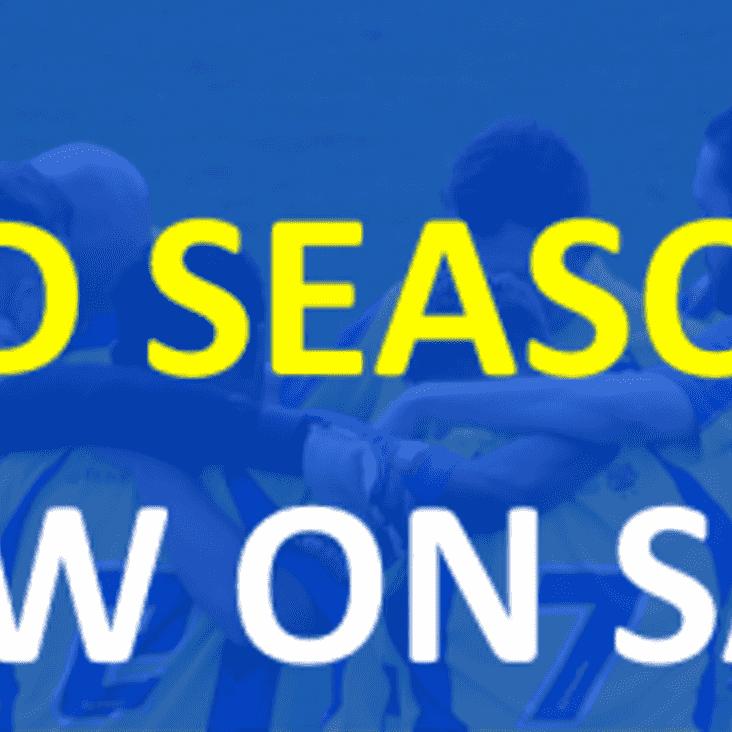 Season Ticket prices for the 2017/18 Season