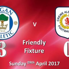 2016-17 Friendly Fixture Wigan Athletic v Crewe Alex Ladies 09/04/2017