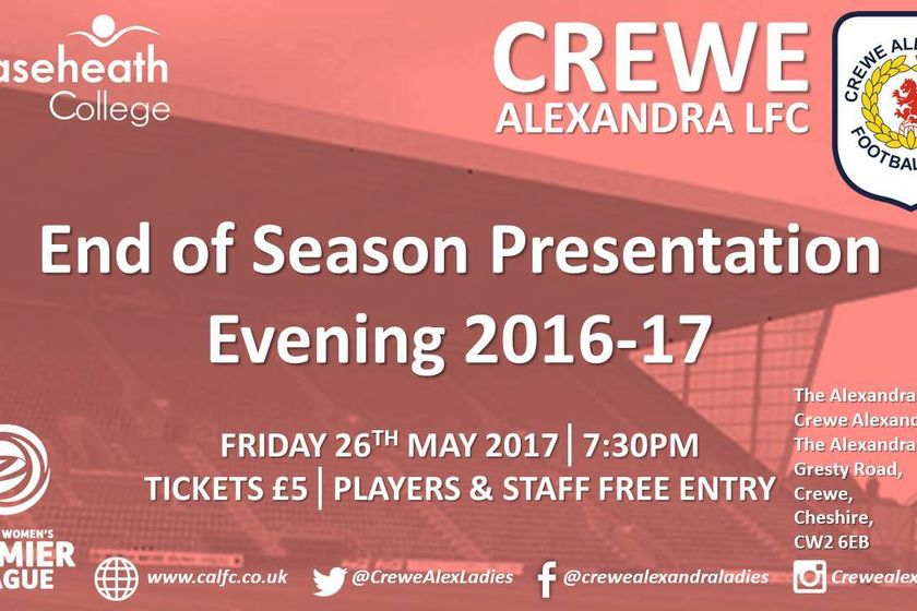 End of Season Presentation Evening 2016-17